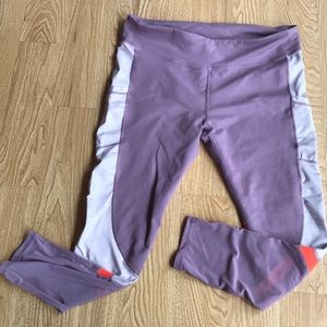 Fabletics Mauve Full Length Leggings w/ Pockets
